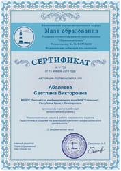 Сертификат вебинара